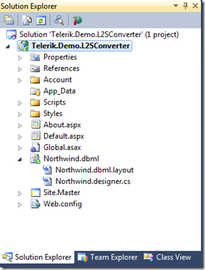 Stephen Forte`s Blog - Convert an Existing LINQ to SQL Model to